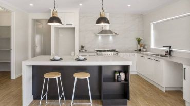 Slick kitchen renovation, all in white