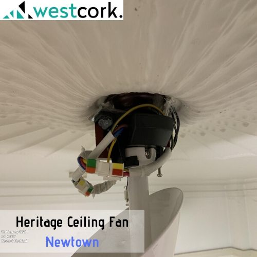 Heritage Ceiling Fan Install Newtown