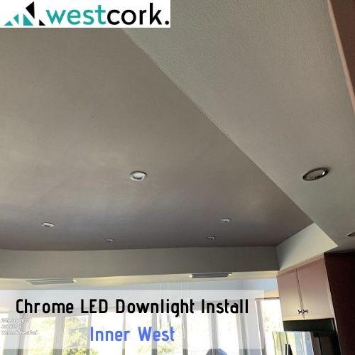 Chrome LED Downlight Install Inner West