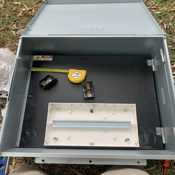 Photo of Meter box assembly on ground