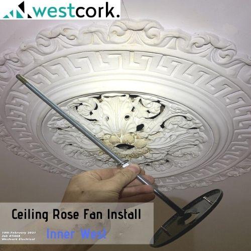 Ceiling Rose Fan Install Inner West