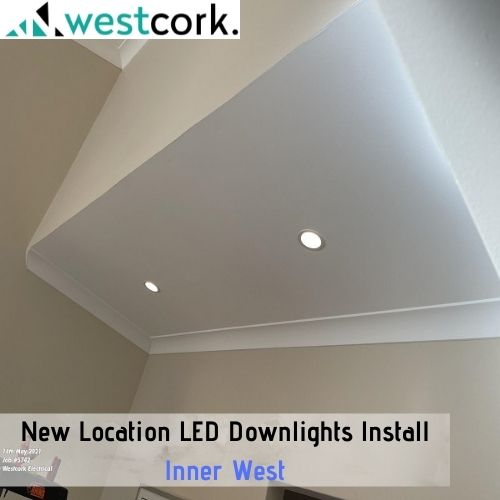 New Location LED Downlights Install Inner West