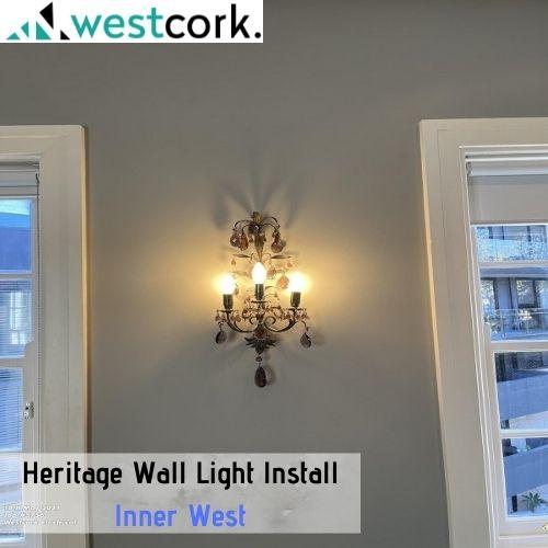 Heritage Wall Light Install Inner West