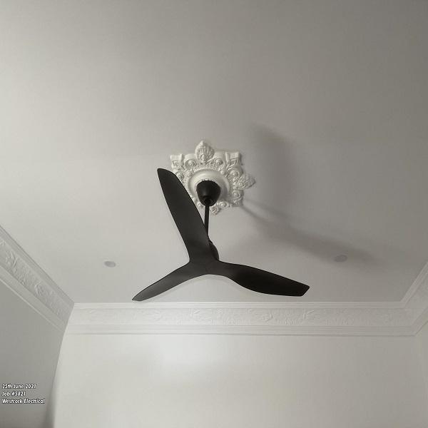 Black Ceiling Fan Install Inner West
