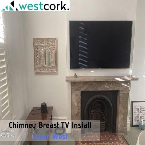 Chimney Breast TV Install Inner West